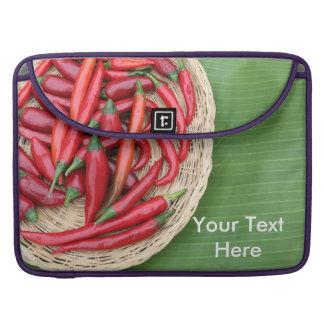 Pimentões vermelhos bolsa para MacBook