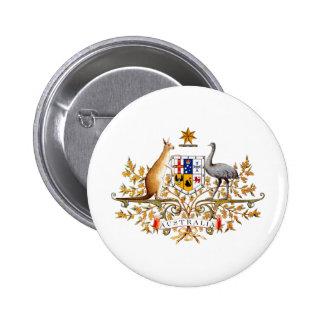 Pin australiano do botão de brasão botons