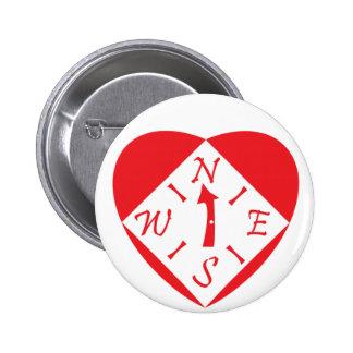 Pin bonito do compasso do coração bóton redondo 5.08cm
