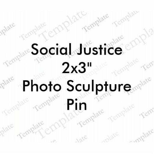 """Pin da escultura foto de justiça social 2x3 da"""""""