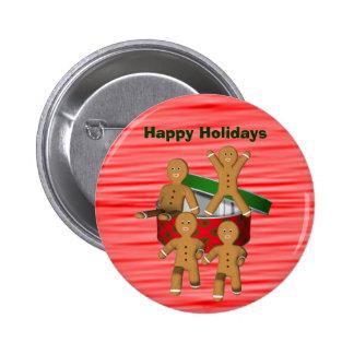 Pin de escape do botão do Natal dos homens de pão- Pins