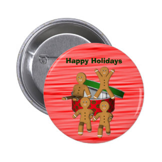 Pin de escape do botão do Natal dos homens de pão- Bóton Redondo 5.08cm