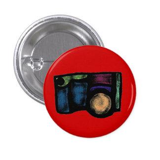 Pin desvanecido da câmera bóton redondo 2.54cm
