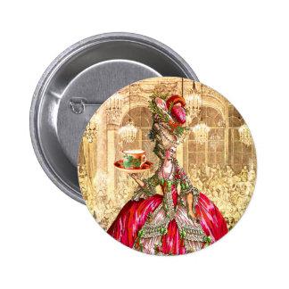 Pin do botão do tea party do Natal de Marie Antoin Boton