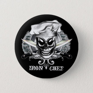 Pin do crânio do cozinheiro chefe: Cozinheiro Bóton Redondo 5.08cm