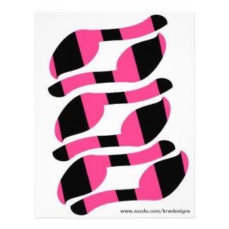 Pin do KRW a cauda nas caudas da zebra ajustadas Panfletos Personalizados