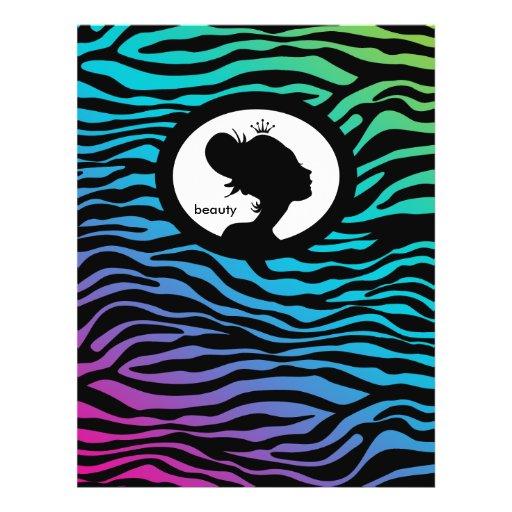 Pin do verde azul da coroa da zebra do cabelo do i modelo de panfletos