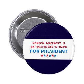 Pin engraçado do botão de Hillary Clinton Monica Bóton Redondo 5.08cm
