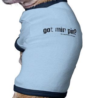 Pin obtido do minuto? camiseta para cães