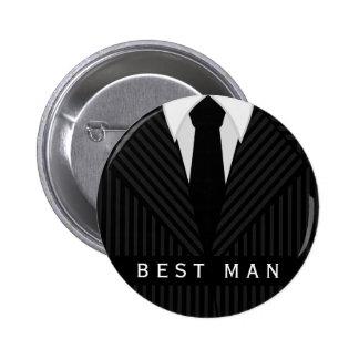 Pin redondo do melhor homem do despedida de bóton redondo 5.08cm