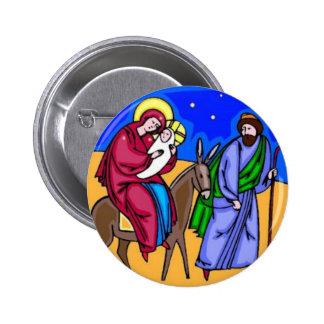 Pin retro da arte do Natal da natividade de Jesus Bóton Redondo 5.08cm