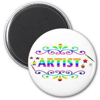 Pincel e design do artista imã