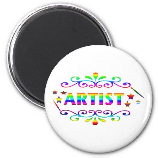 Pincel e design do artista imãs