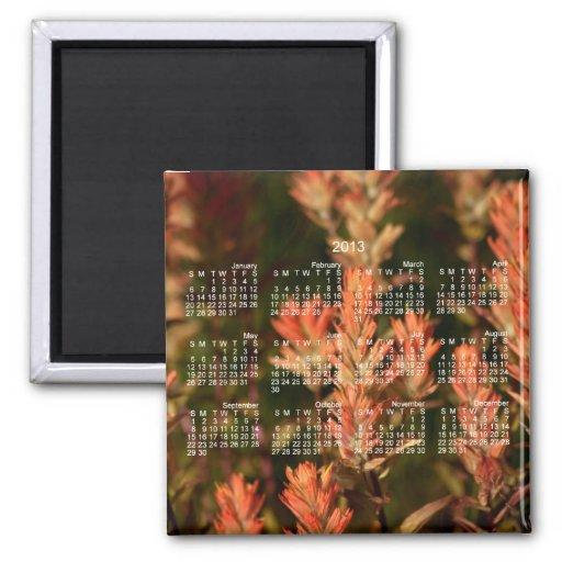 Pincel indiano; Calendário 2013 Imã De Refrigerador