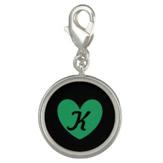 Pingente Corações verdes da polca de Kelly no preto