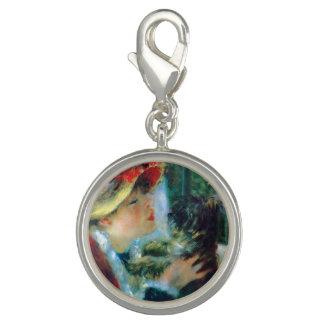Pingentes Com Fotos Jovem mulher com suas belas artes de Renoir do cão