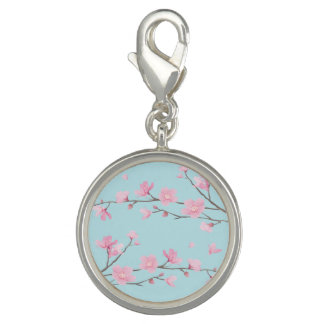 Pingentes Flor de cerejeira - azul-céu
