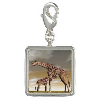 Pingentes Girafa da mãe e do bebê - 3D rendem