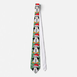 Pinguim bonito do Natal Ho Ho Ho Gravata
