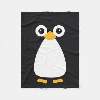 Pinguim bonito do vetor cobertor de lã