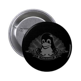 Pinguim de Tux - (Linux, Open Source, Copyleft, FS Boton