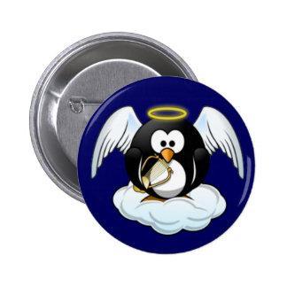 Pinguim do anjo do Natal Bóton Redondo 5.08cm