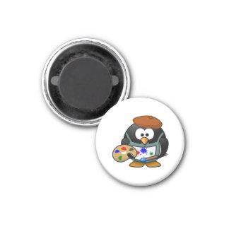 Pinguim do artista imãs