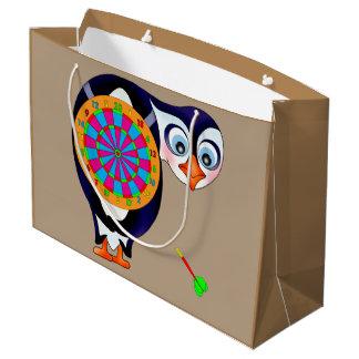 Pinguim do dardo pelos Feliz Juul Empresa Sacola Para Presentes Grande