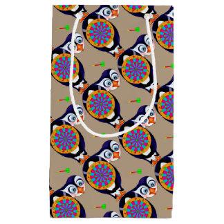 Pinguim do dardo pelos Feliz Juul Empresa Sacola Para Presentes Pequena