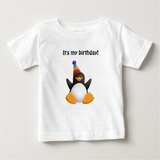 Pinguim do feliz aniversario tshirt