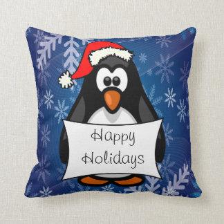 Pinguim do Natal Almofada