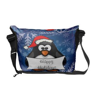 Pinguim do Natal Bolsa Mensageiro