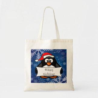 Pinguim do Natal Bolsa Tote