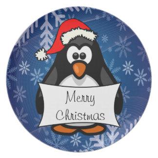 Pinguim do Natal Louça De Jantar