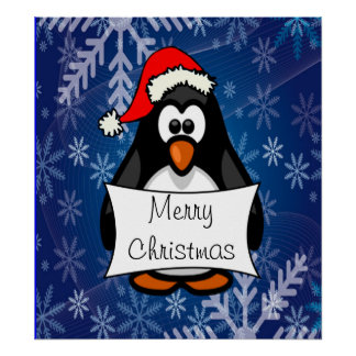 Pinguim do Natal Pôster