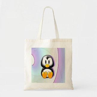 Pinguim dos desenhos animados bolsa tote