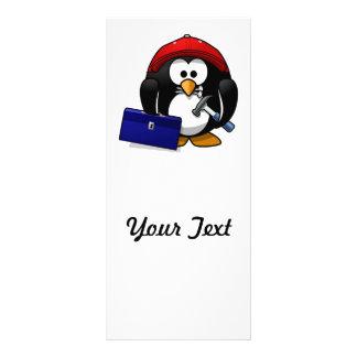 Pinguim esperto dos desenhos animados planfetos informativos coloridos