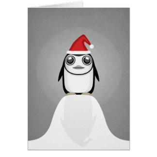 Pinguim festivo cartão comemorativo