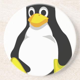 Pinguim Linux Tux Porta Copos De Arenito