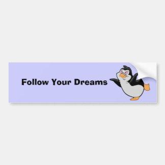 Pinguim que sonha o autocolante no vidro traseiro adesivo para carro