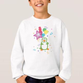 Pinguim verde com camisa dos balões