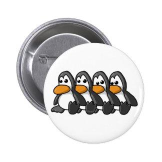 Pinguins Bóton Redondo 5.08cm