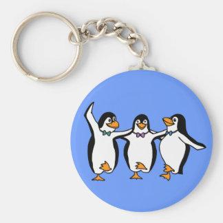 Pinguins da dança chaveiro