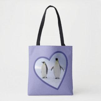 Pinguins de imperador bolsa tote