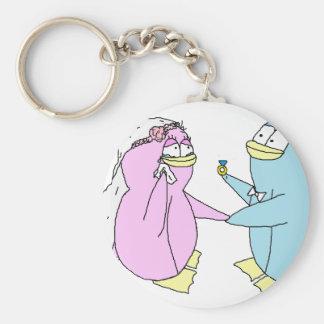 Pinguins do casamento chaveiro