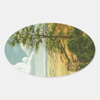 Pinho 1158 no monumento do blefe de Scotts Adesivo Oval