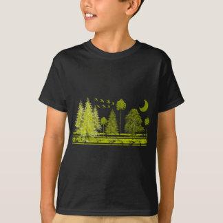 Pinhos com cor e estilo do t-shirt da Lua-mudança