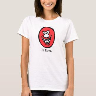 *Pink do smiley face (esteja feliz) Camisetas