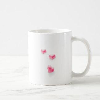 Pink Love Hearts 1 Caneca De Café