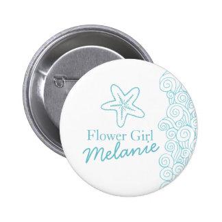 Pino/botão do casamento do aqua do florista da bóton redondo 5.08cm